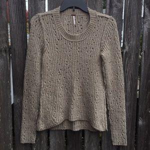 Free People M Tan Sweater Soft Cozy Comfy Warm